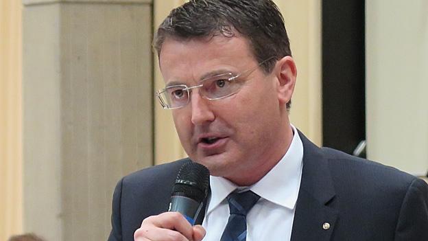 SVP-Parteipräsident Thomas Burgherr im Gespräch (22.01.2015)