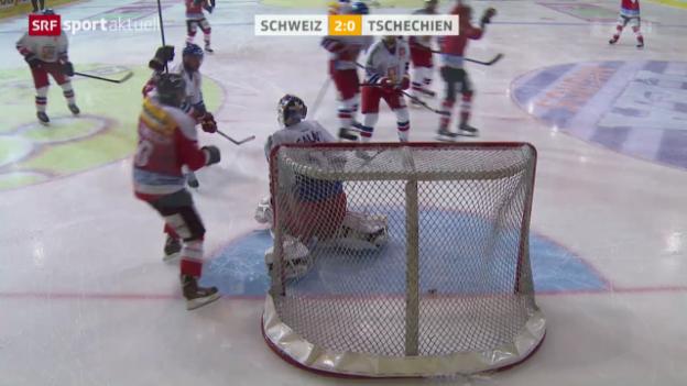 Video «Eishockey: Testspiel Schweiz - Tschechien» abspielen