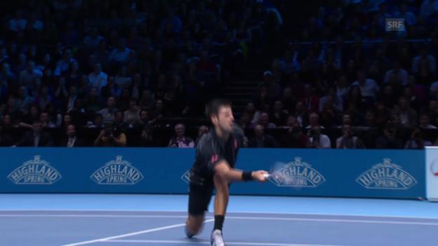 Video «Nadal-Djokovic: Schönster Punkt des 1. Satzes» abspielen