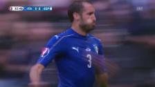 Video «Jetzt trifft er auch noch – Chiellinis Tor gegen Spanien» abspielen