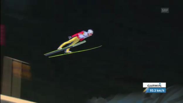 Video «Simon Ammanns 1. Sprung («sportlive»)» abspielen