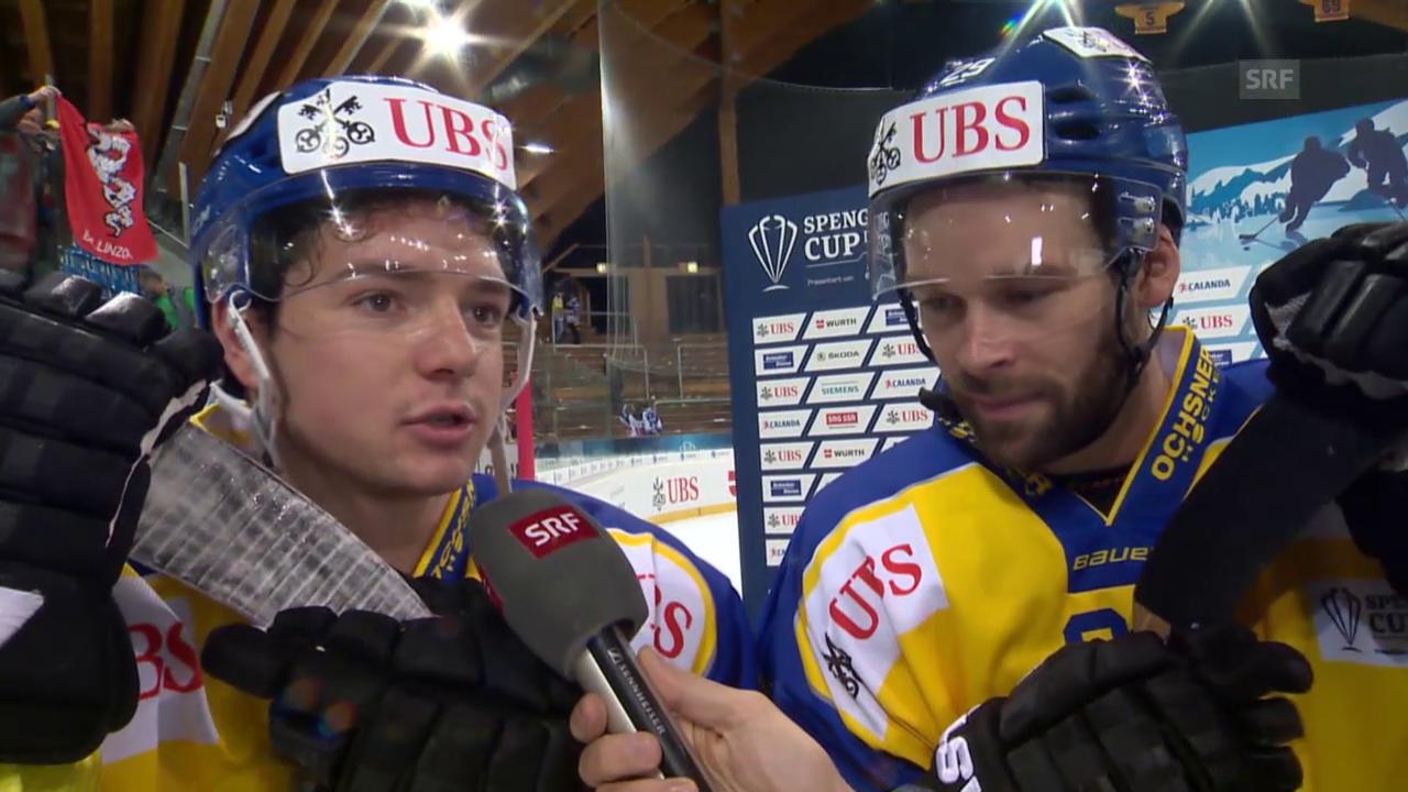 Eishockey: Spengler Cup, Davos-Jekaterinburg, Interview mit Forster/Nater