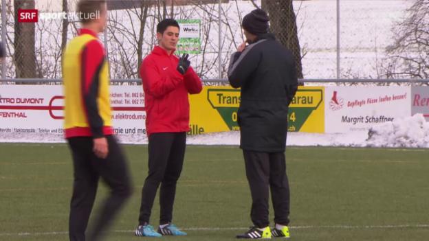 Video «Fussball: Moreno Costanzo in Aarau» abspielen