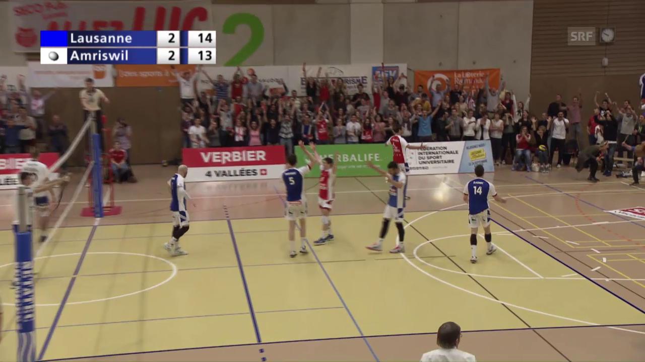 Der Matchball bei LUC-Amriswil