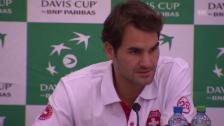 Video «Tennis: Davis Cup, Schweiz - Niederlane, Federer über 2016» abspielen