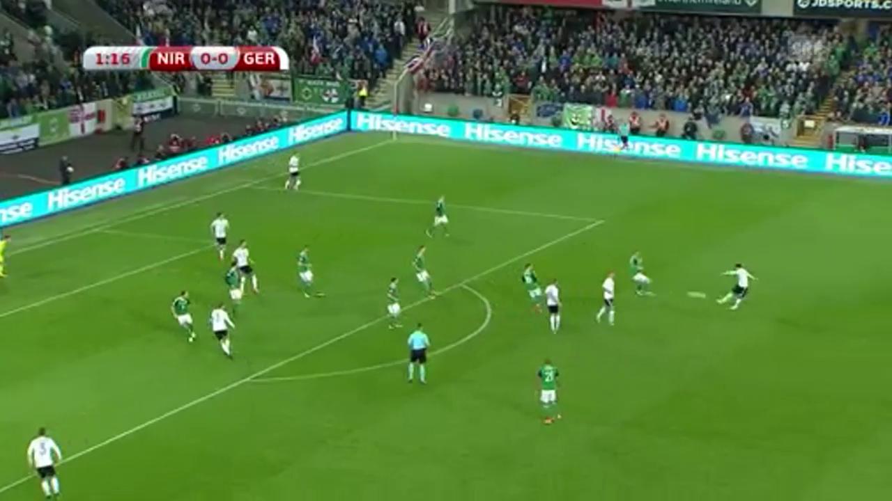 Deutschlands Weitschuss-Tore gegen Nordirland