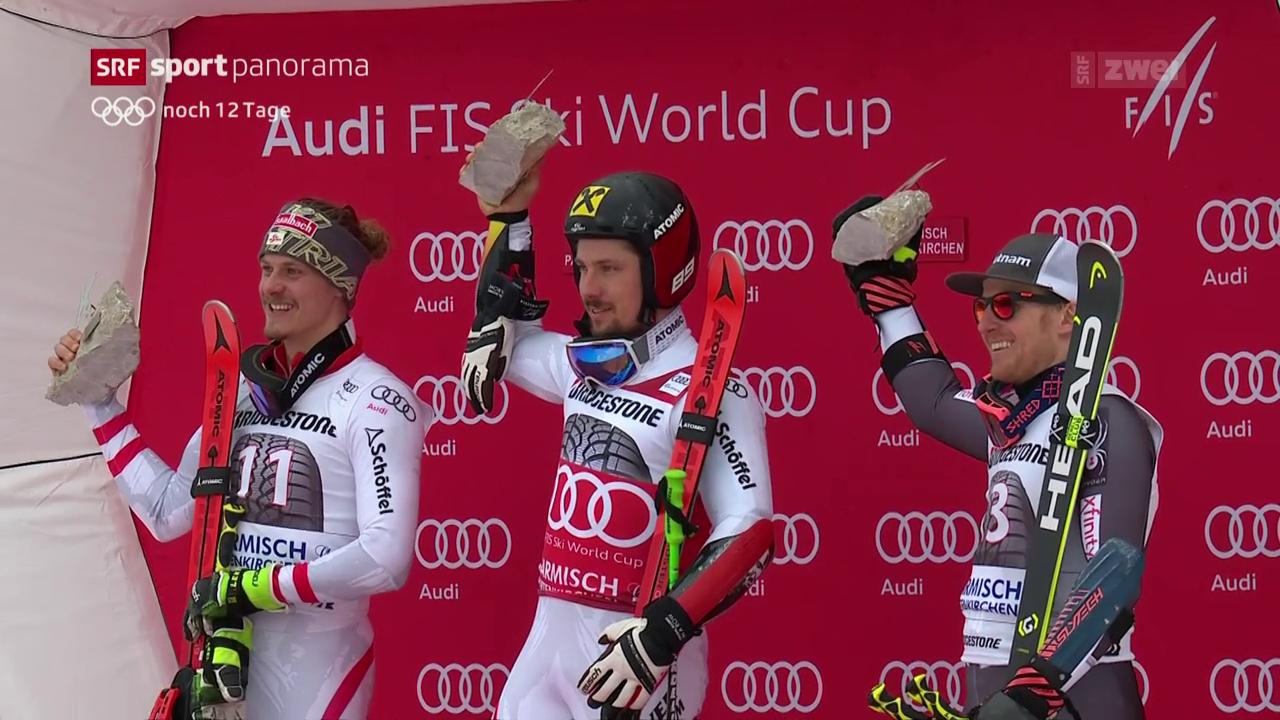 Hirscher gewinnt in Garmisch überlegen