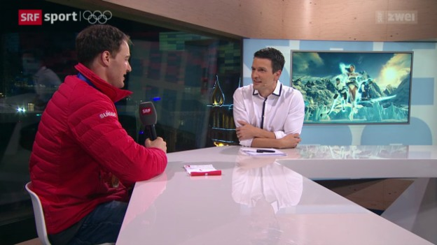 Video «Langlauf: Dario Cologna im House of Switzerland» abspielen