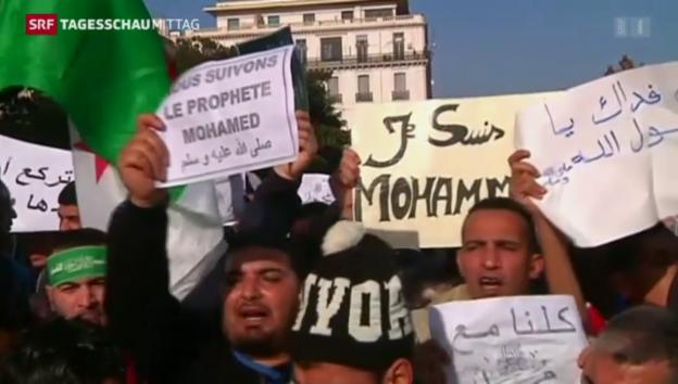 Video «Proteste gegen Charlie Hebdo» abspielen