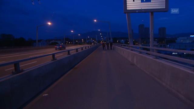 Dani Fohrler auf der Hardbrücke