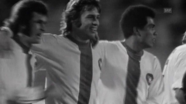 Video «Fussball: Meistercup 1973, Basel-Brügge 6:4» abspielen