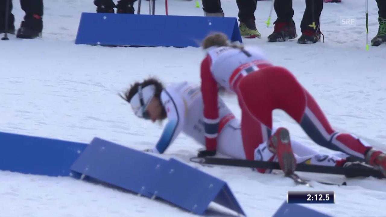 Langlauf: Stürze beim Sprint in Lahti («sportlive», 1.3.14)