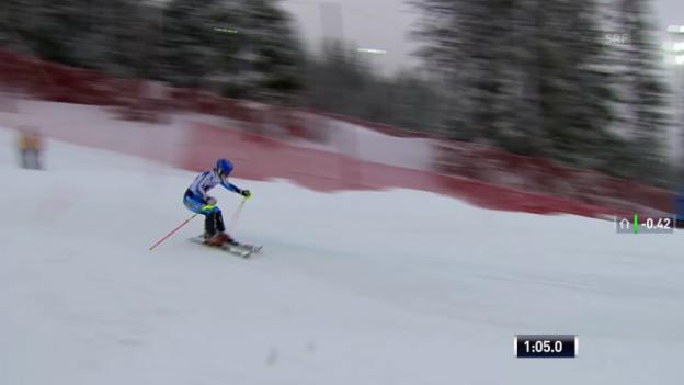 Video «Ski Alpin: Slalom Are, 2. Lauf von Pietilae-Holmner («sportlive», 8.3.2014)» abspielen