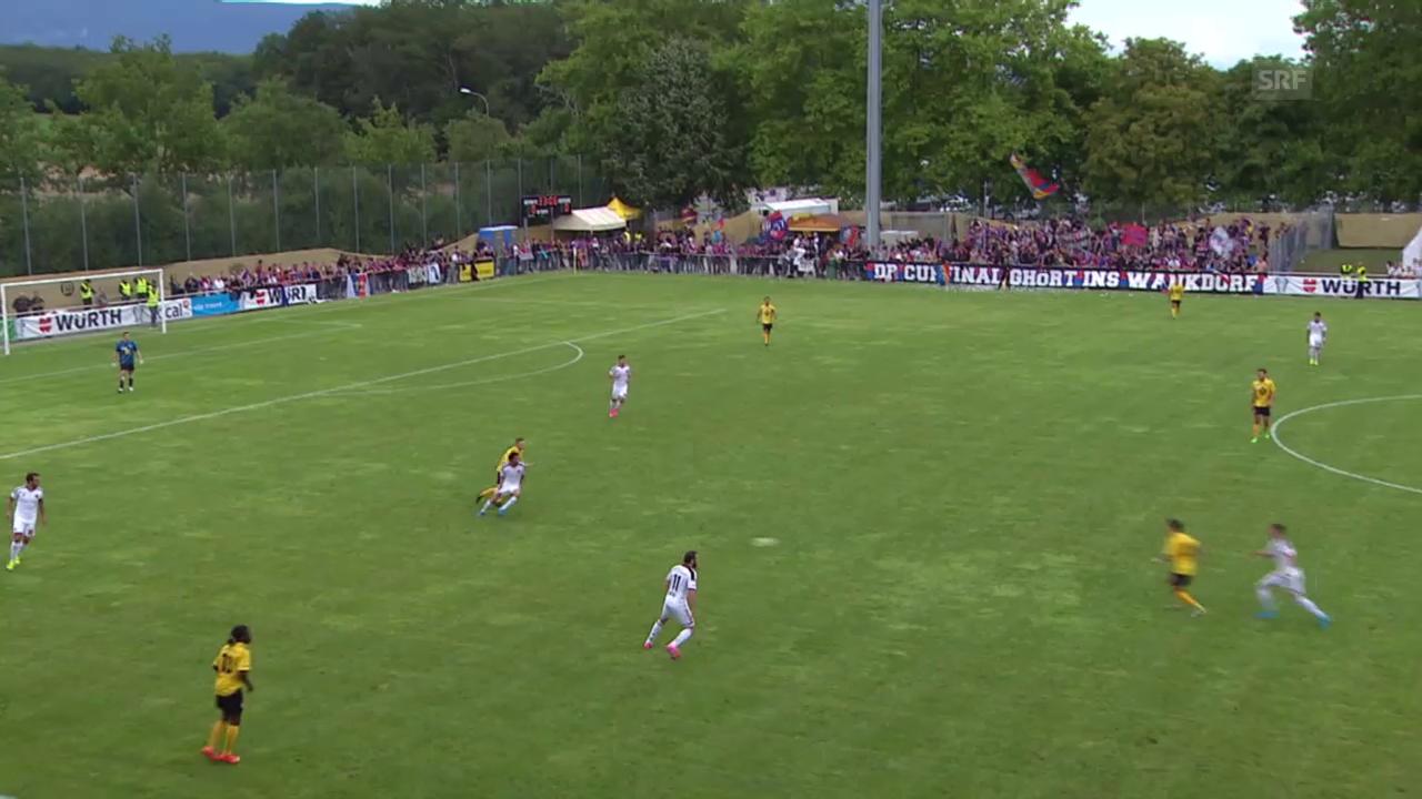 Fussball: Schweizer Cup, 1. Runde: Meyrin - Basel, Tor Ajeti 0:1