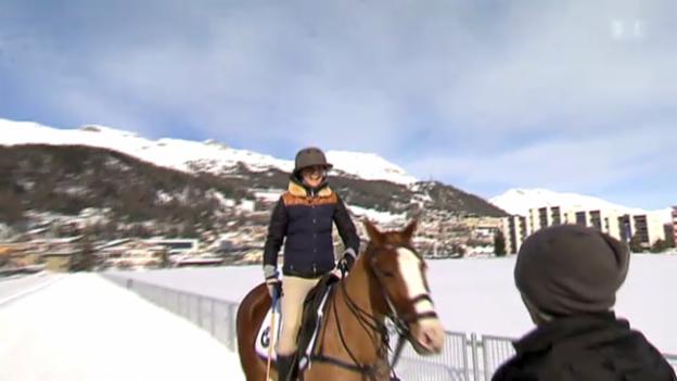 Video ««Frey von Sinnen im Winter», Teil 4: Annina Frey spielt Polo» abspielen