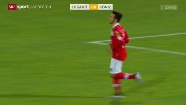 Video «Fussball: Schweizer Cup, Lugano - Köniz» abspielen