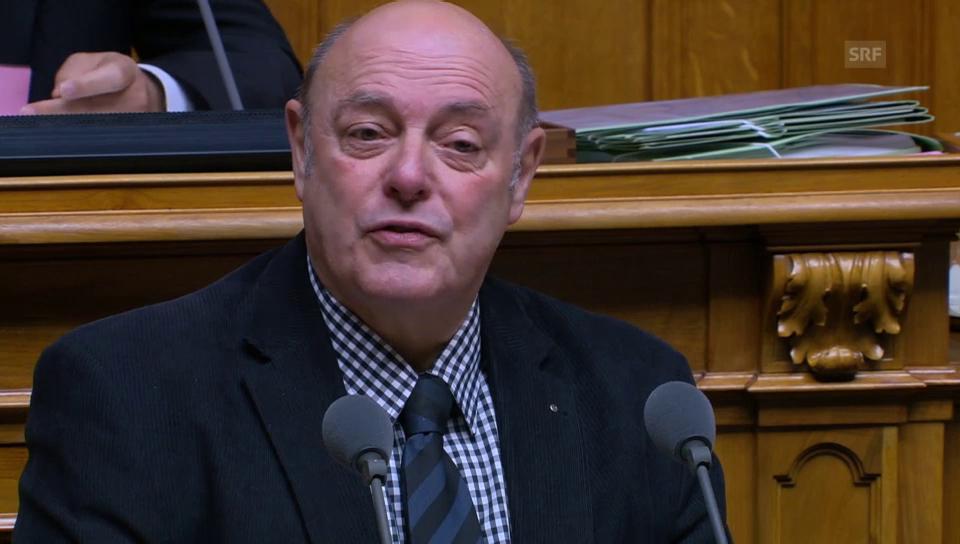Ulrich Giezendanner (SVP/AG) kritisiert Planwirtschaft