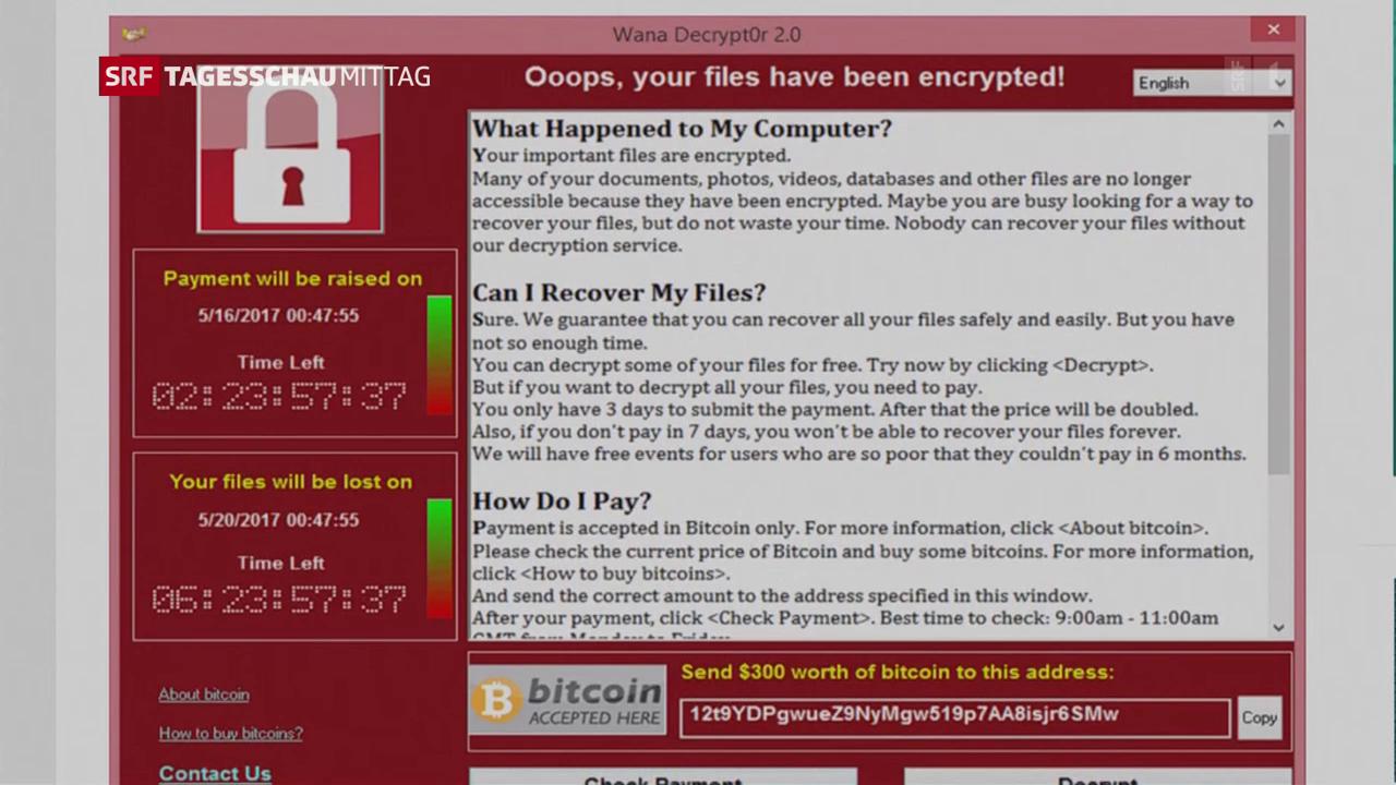 Erpresser-Software verursacht Schäden