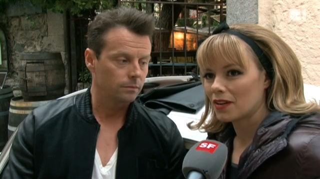 Mit Florian Ast und Francine Jordi beim Fotoshooting