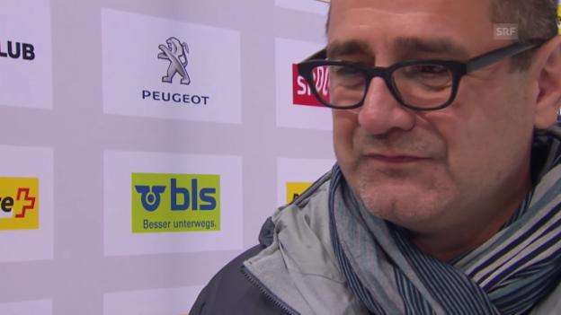 Video «Eishockey NLA: SCB-CEO Marc Lüthi zu Törmänens Entlassung» abspielen