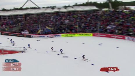 Video «Langlauf: Ueli Schnider gewinnt seinen Viertelfinal» abspielen