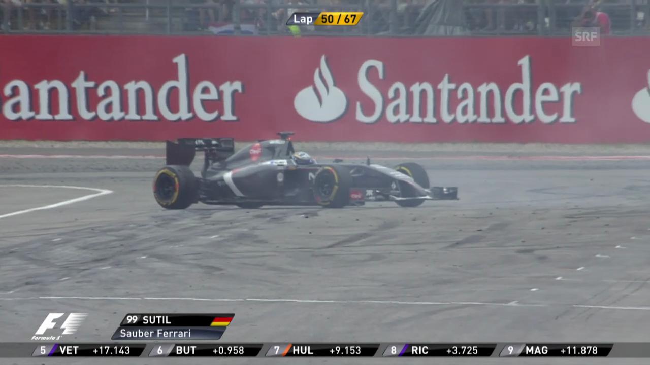Formel 1: GP Deutschland, Ausfall Sutil