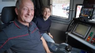 Video «Neben dem Lokführer durch den Gotthard-Basistunnel» abspielen