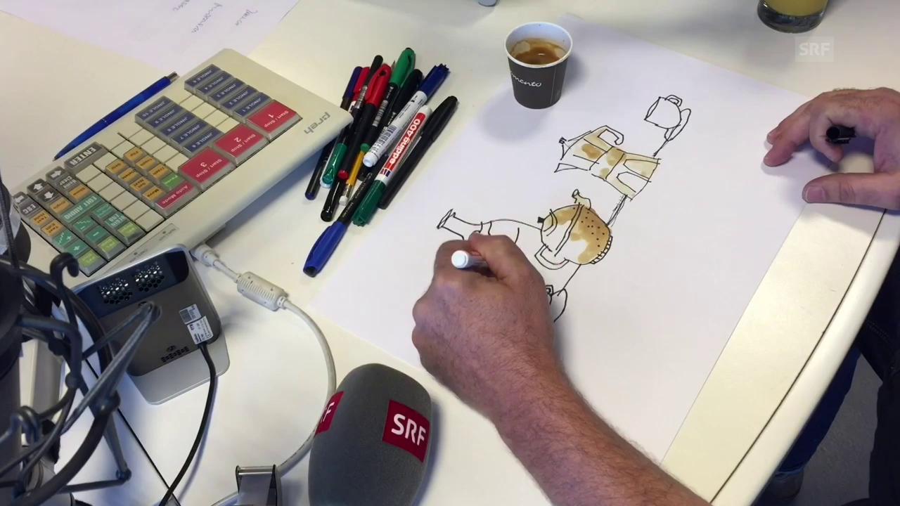 B?ne Huber malt ? das Werk vom durstigen Affen