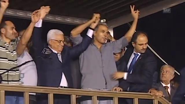 Palästinenser umjubeln Freigelassene (unkomm.)
