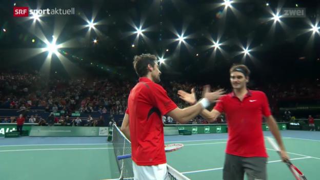Video «Tennis: Paris-Bercy, Federer und Wawrinka 2. Runde» abspielen