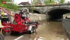 Video «Die Schweiz kämpft mit Dauerregen» abspielen