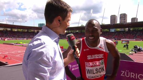 Video «200 m Männer: Wilson im Interview» abspielen