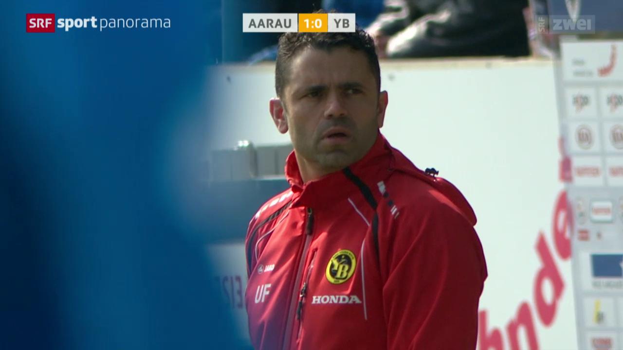 Fussball: Super League, Aarau - YB