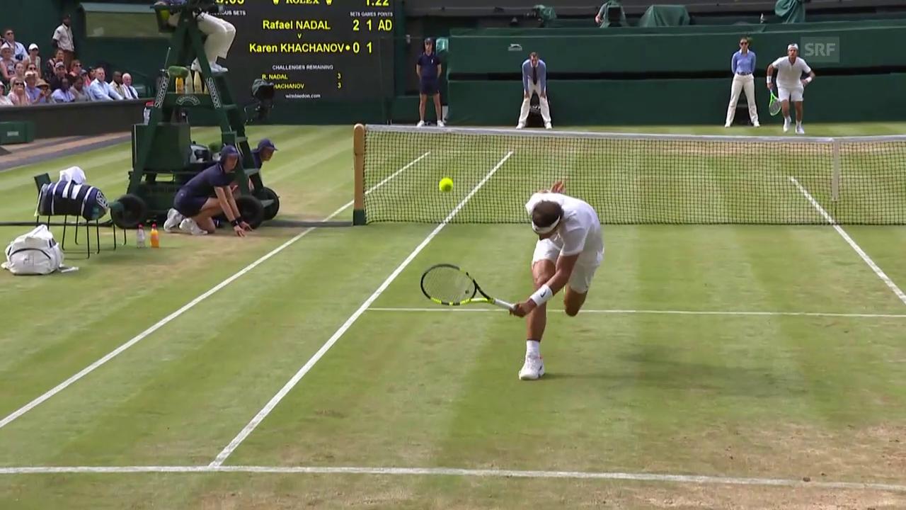 Kurioser Ballwechsel bei Nadal - Chatschanow