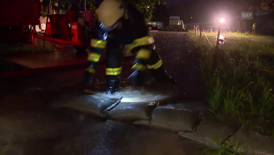 Überschwemmungen in Malters/LU