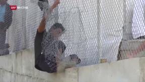 Video «FOKUS: Auf der griechischen Insel Lesbos herrscht Chaos» abspielen