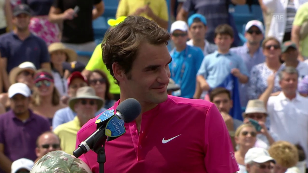 Tennis: Federers Siegerinterview Cincinnati