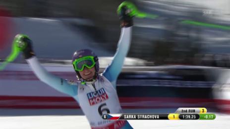 Video «Ski-WM Vail/Beaver Creek, Slalom Frauen, 2. Lauf Strachova» abspielen