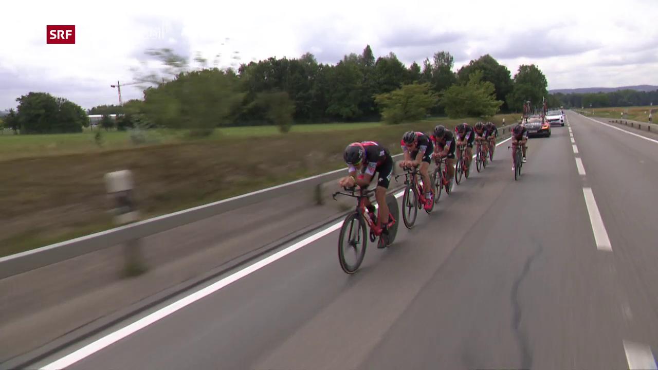 Das Team BMC trainiert vor der Tour de Suisse