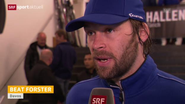 Video «Eishockey: NLA, Playoff-Final, Spiel 3, ZSC - HCD, Interview Beat Forster» abspielen