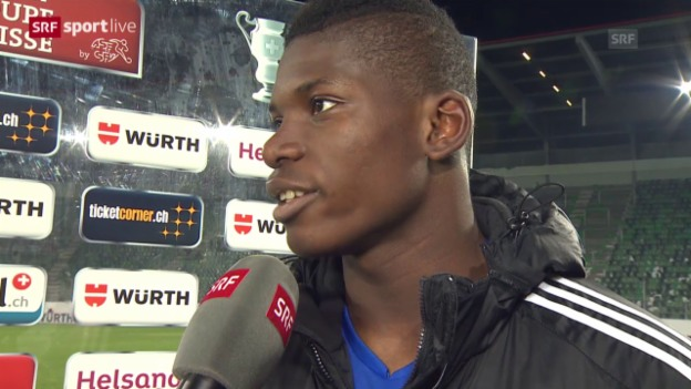 Video «Fussball: Cup, St. Gallen - Basel, Interview mit Breel Embolo» abspielen