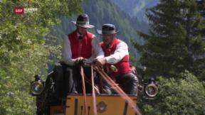 Video «Tag 6: Mit der Postkutsche auf der Tremola» abspielen