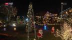 Video «Leuchtender Weihnachtszauber in Lyss» abspielen