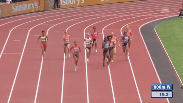 Video «Leichtathletik: Diamond League London, Lauf Büchel» abspielen