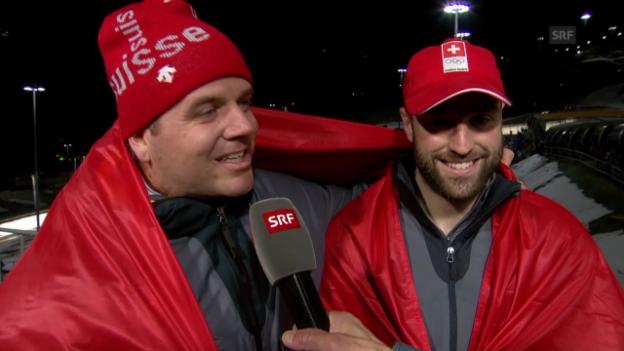 Video «Zweierbob: Interview mit Beat Hefti und Alex Baumann (17.02.2014)» abspielen