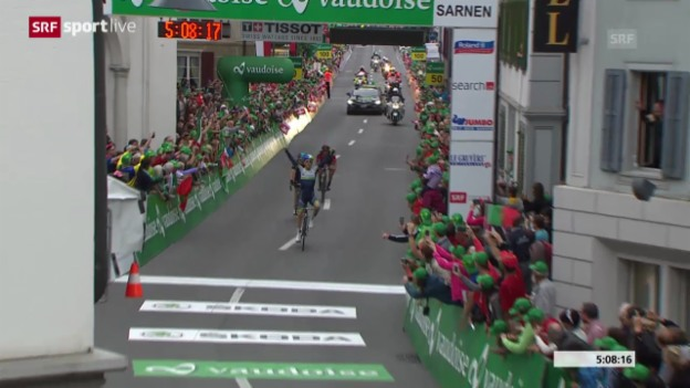 Video «Rad: Tour de Suisse, 2. Etappe» abspielen