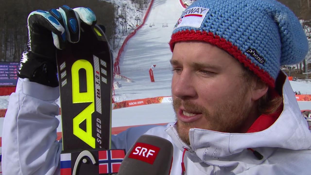 Ski Alpin: Super-G Sotschi, Interview Kjetil Jansrud (sotschi direkt, 16.2.2014)