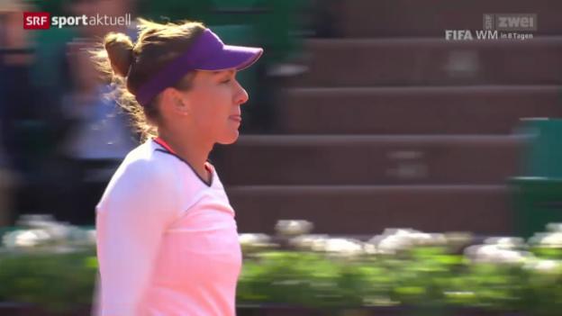 Video «Tennis: French Open, Viertelfinals Frauen» abspielen
