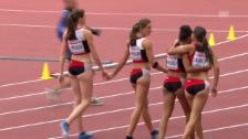 Video «Leichtathletik-EM: Die Ehrenrunde der Schweizerinnen» abspielen