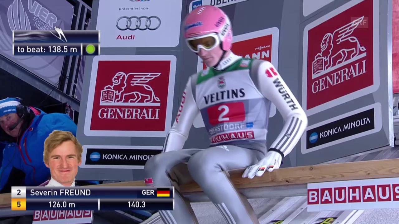 Skispringen: 2. Sprung Freund